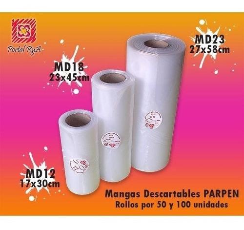mangas descartables n18 - 45 cm rollo x 100 u - parpen