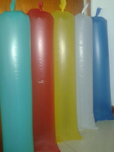 mangas globos estadio lisos roj/azu/amar/bl desde 50 unid