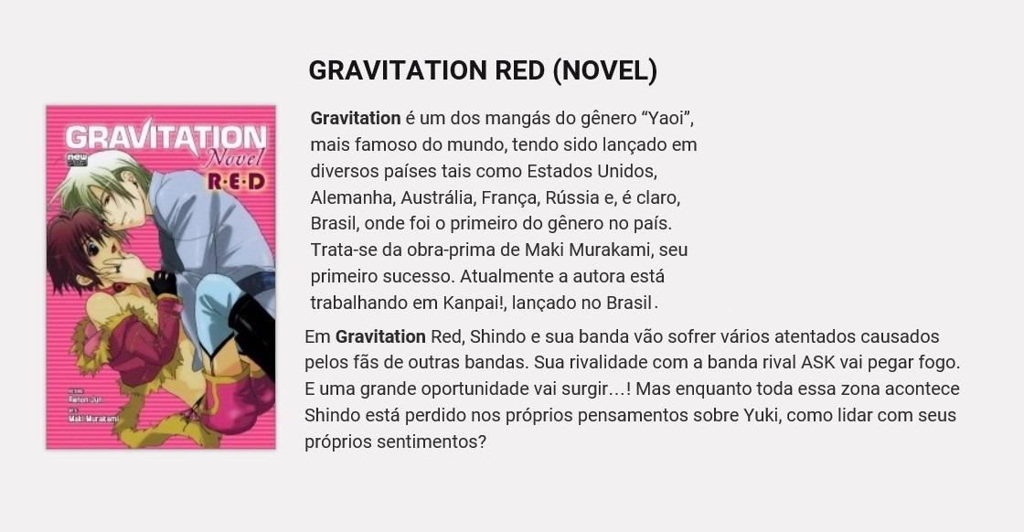 Mangás Gravitation Red & Blue (novels / Yaois) Em Português