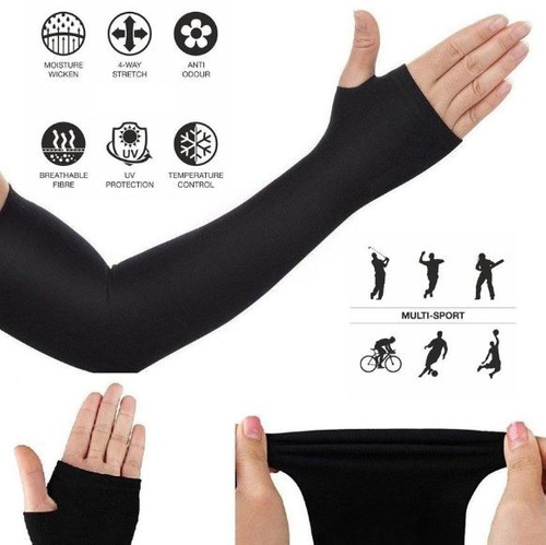 mangas protectoras uv licra protector sol deportes dry-fit!!