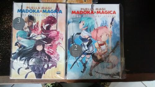 mangás puella magi madoka magica the dif story vol 1,2 e 3