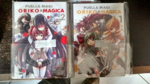 mangás puella magi oriko magica vol 1 e 2