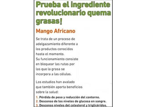 mango africano ultra calidad 2 frascos 180 caps /sol-ofertas