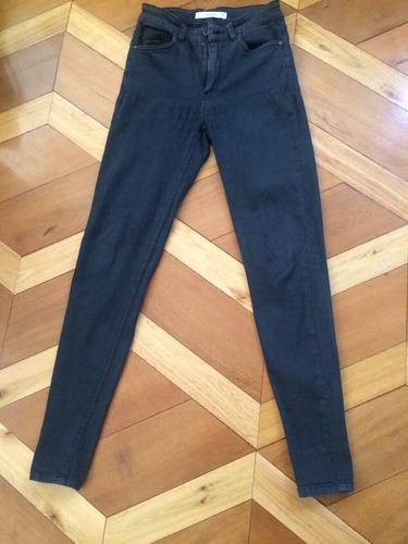 mango jeans gris skinny cintura