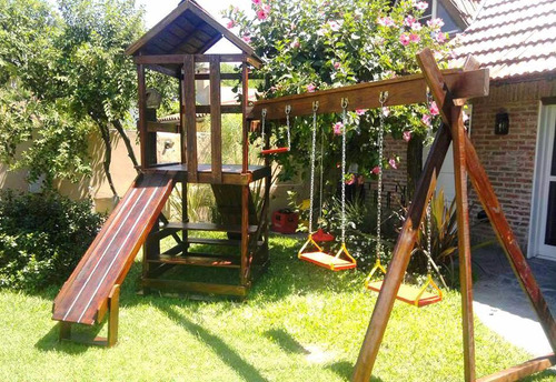 mangrullo de madera con hamacas - calidad y buen precio