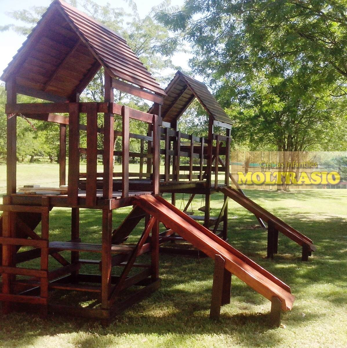 Mangrullo Juego Infantil De Madera Para Exteriores Premium