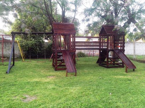 mangrullos de madera / juegos en altura