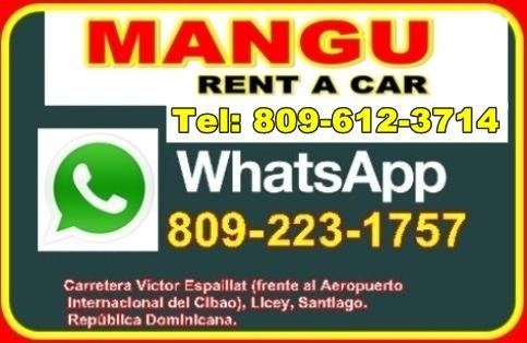 mangu, rent, a car, autos, coche, licey, santiago, rep. dom.