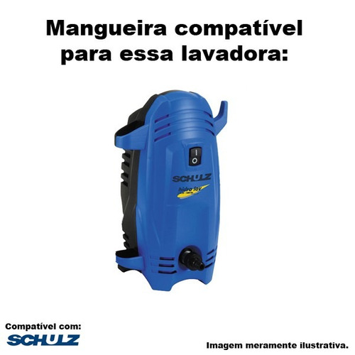 mangueira alta pressão schulz hidro lav 1350w 1400lbs -15mts