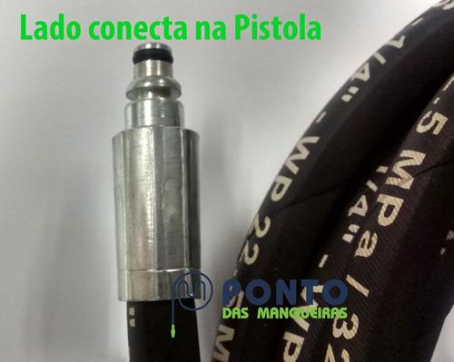 mangueira de alta pressão com trama de aço black&decker 15mt