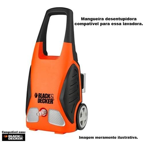 mangueira desentupidora trama aço black e decker pw 1550 5mt