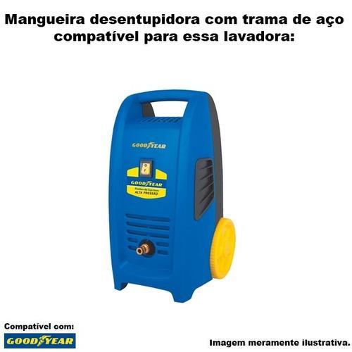mangueira desentupidora trama aço goodyear gy hp 2100 -10mts
