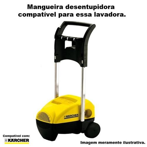 mangueira desentupidora trama aço karcher k 330 m plus 15mts
