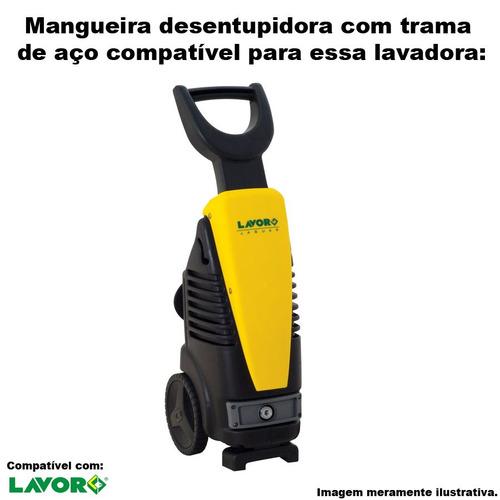 mangueira desentupidora trama aço lavor jaguar turbo - 10mts