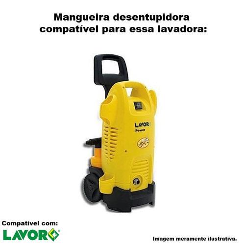 mangueira desentupidora trama aço lavor power 19 - 30 metros