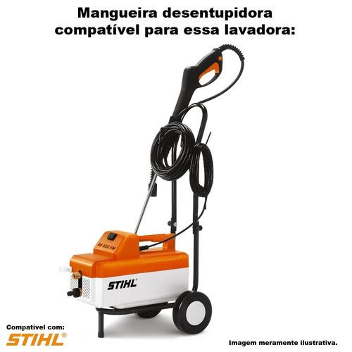 mangueira desentupidora trama aço stihl re 900 km -15 metros