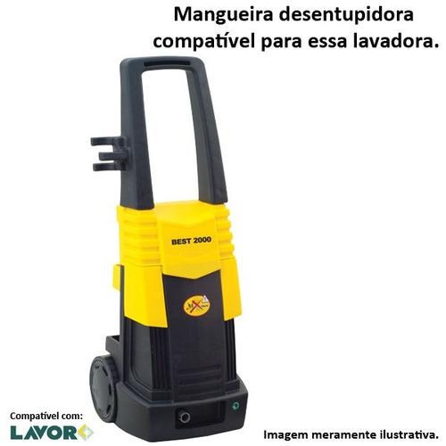 mangueira desentupidora trama de aço lavor best 2000 - 30mts