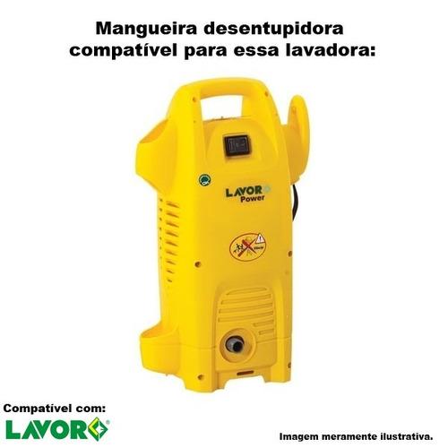 mangueira desentupidora trama de aço lavor power - 05 metros