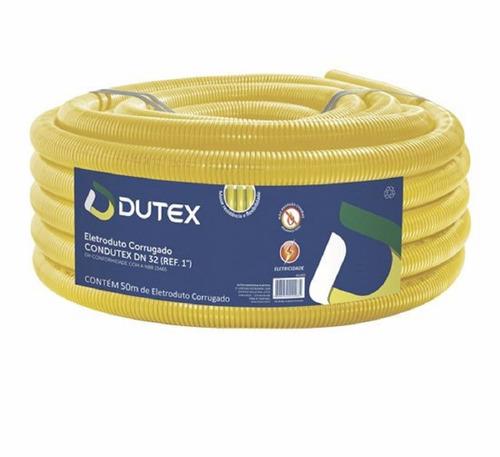 mangueira eletroduto corrugada 1   50 metros amarela full