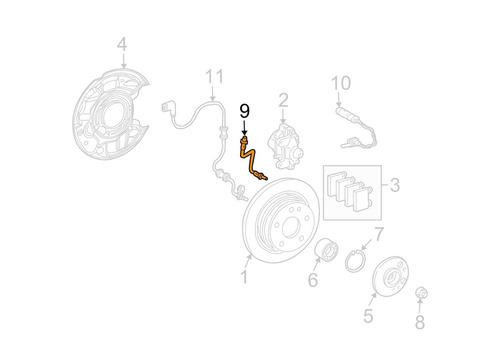 mangueira flexivel freio traseiro mercedes slk200 2008-2011