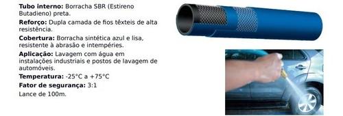 mangueira lava rapido azul + flexivel 1300psi 30mt
