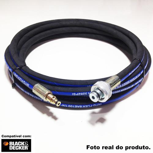 mangueira lavadora de alta pressão pw1400-black & decker 03