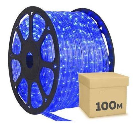 mangueira luminosa led 110v com 100 metros, 5 conectores  e 5 terminais