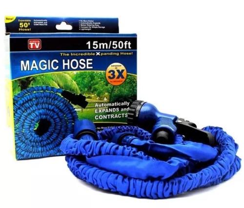 mangueira mágica extensível retrátil 15m azul