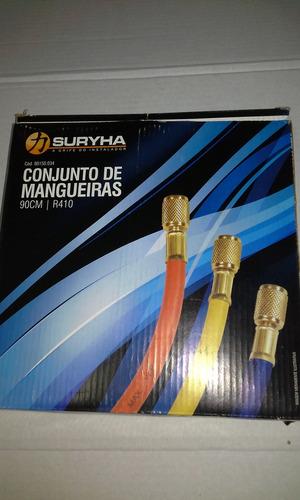 mangueira manifold conjunto com 3 peças de 90cm - gas r410a