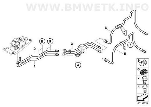 mangueira pressão inferior bloco válvulas 6772459 bmw x5