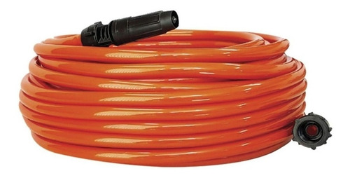 mangueira super flexível jardim 20 metros laranja + suporte