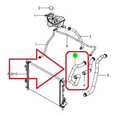 mangueira superior radiador supercharger 1.0 fiesta 02-07 *