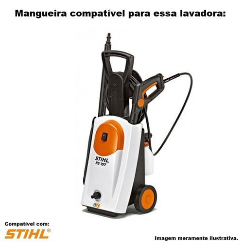 mangueira trama aço lavadora alta pressão stihl re 107 -15mt