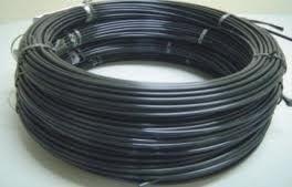 mangueira tubo nylon s/trama preto tecalon 6x4mm - 10 metro