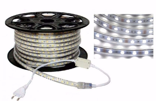 Manguera 50mts led 5050 para exterior blanco frio ip65 for Manguera led exterior