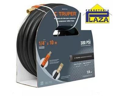 manguera compresor alta presión 1/4 pulg. 10 metros truper
