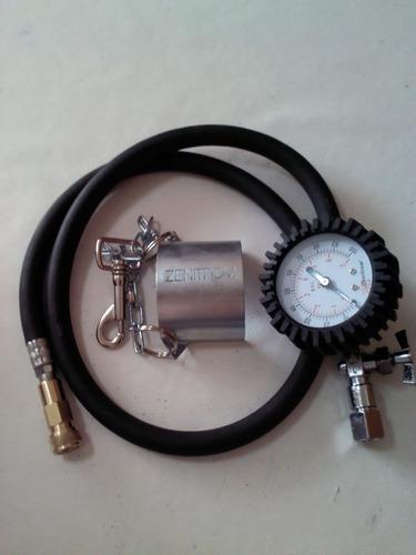 manguera con manometro lavado de  inyectores con spray