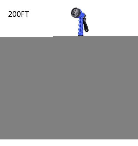 manguera d/agua p/jardín extensible 200 ft c/pistola 7 modos