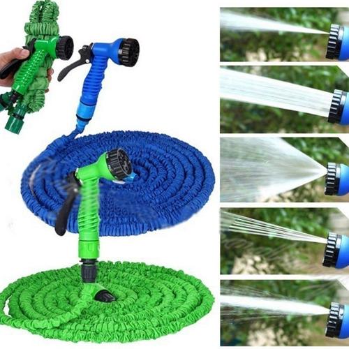 manguera de 22,5 m flexible expandible hogar jardin carro