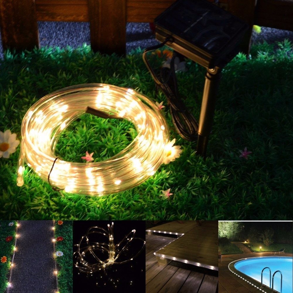 Manguera De 50 Luces Led Solares Navidad Colores 792 50 En  # Muebles Solares
