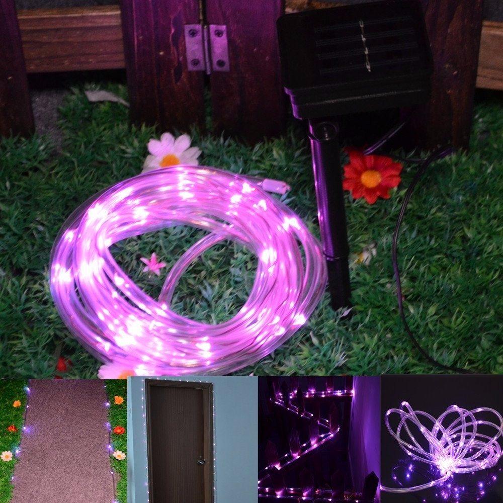 Manguera de 50 luces led solares navidad colores en mercado libre - Luces exteriores solares ...