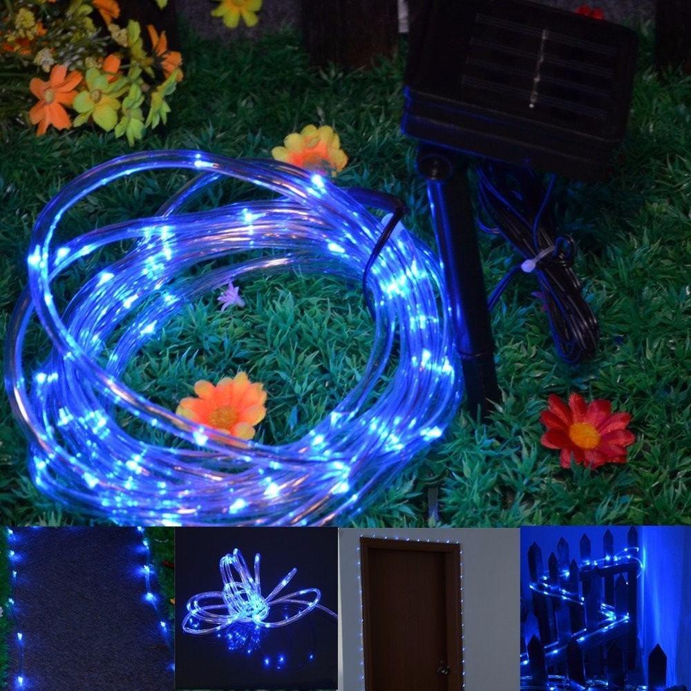 Manguera de 50 luces led solares navidad colores en mercado libre - Luces exterior solares ...
