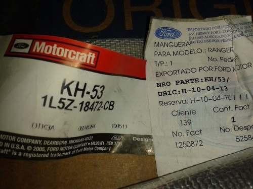 manguera de calefaccion salida ranger 2.5 / 4.0 original..!!