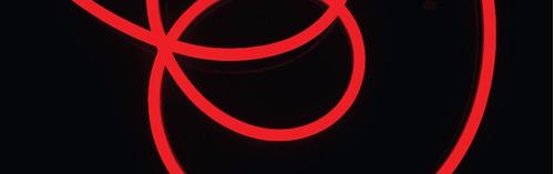 manguera de led neon 20 mts roja alta luminosidad exterior