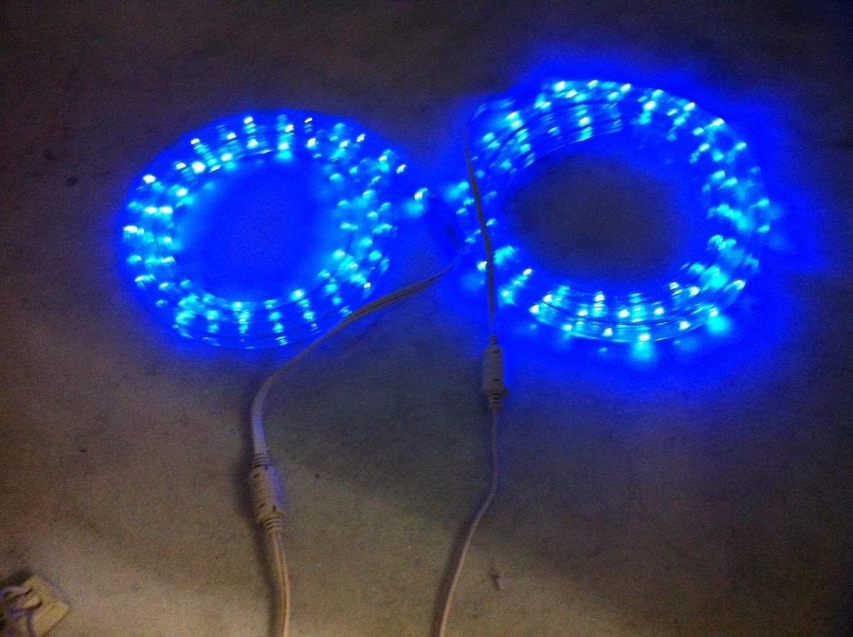 manguera de luces led azul mts exterior interior