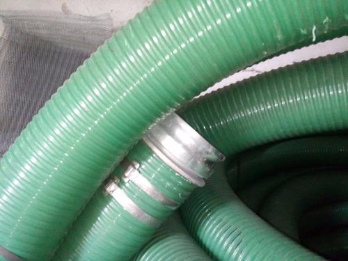 manguera de succión de 6  de diámetro c/ conex. de aluminio