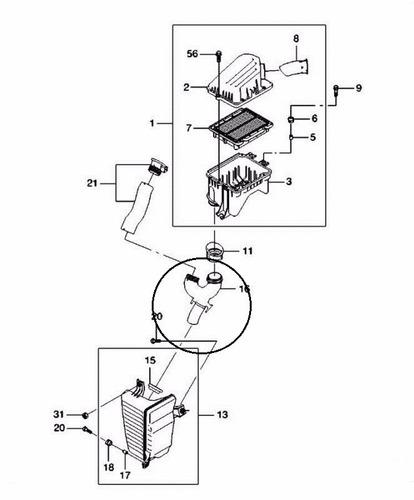 manguera ducto de aire resonador aveo gm