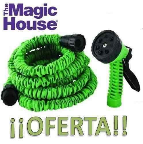 manguera expandible 15 magic hose + pistola 7 chorros