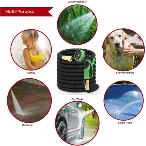 manguera expandible jardín hasta 15m uso rudo + accesorios
