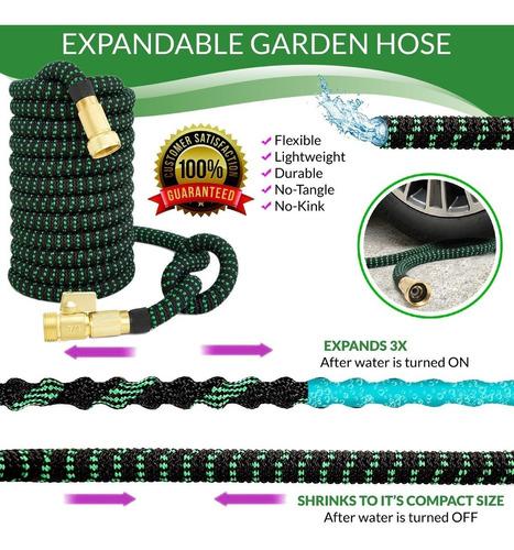 manguera expandible jardín hasta 30m uso rudo + accesorios